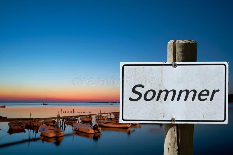 Sommar på den kroatiska kusten royaltyfri bild