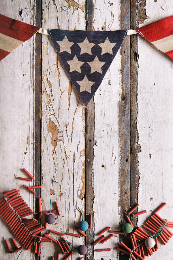 Sommar: Patriotric Juli 4th sommarbakgrund arkivbild
