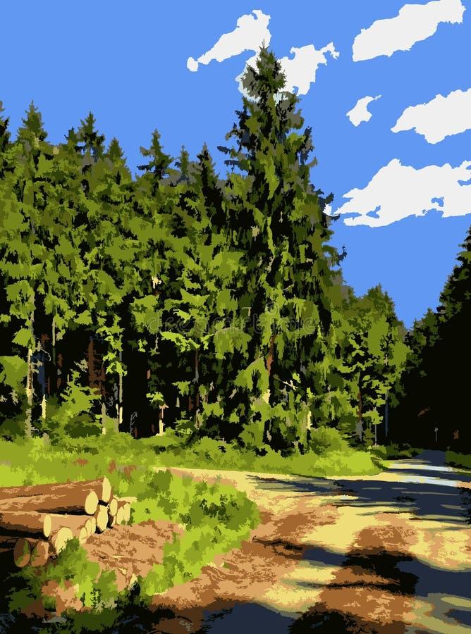 sommar som drömmer i skog royaltyfri fotografi