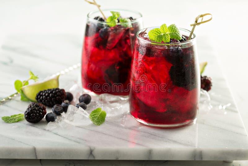 Sommarbärdrink med limefrukt royaltyfria foton