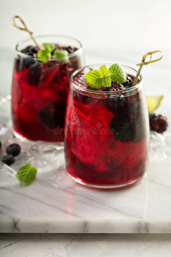 Sommarbärdrink med limefrukt arkivfoton