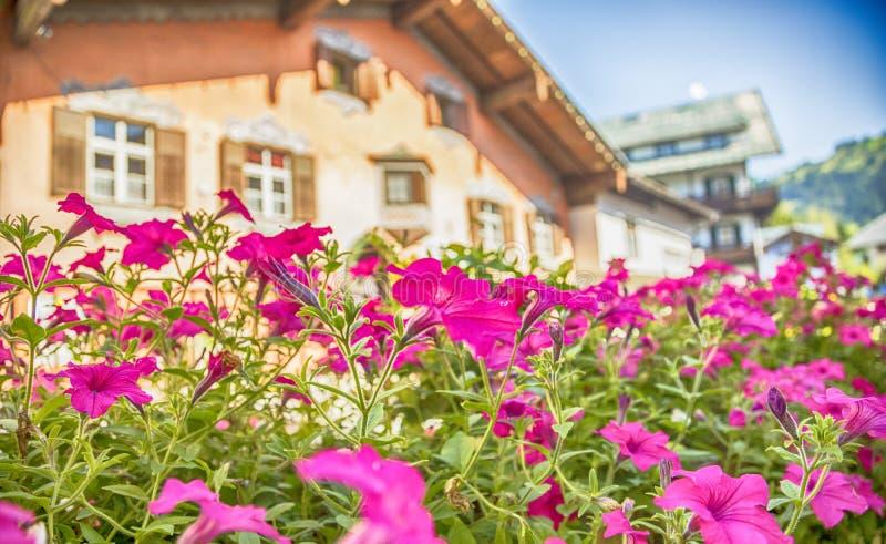 Sommarby Kitzbuhel, Österrike royaltyfri foto