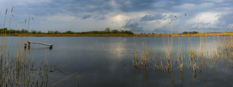 Sommardag på sjön royaltyfri foto