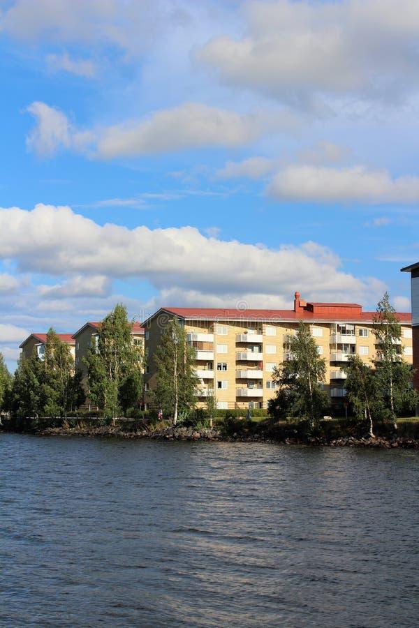 Sommardag på Stadsviken i LuleÃ¥ arkivbilder