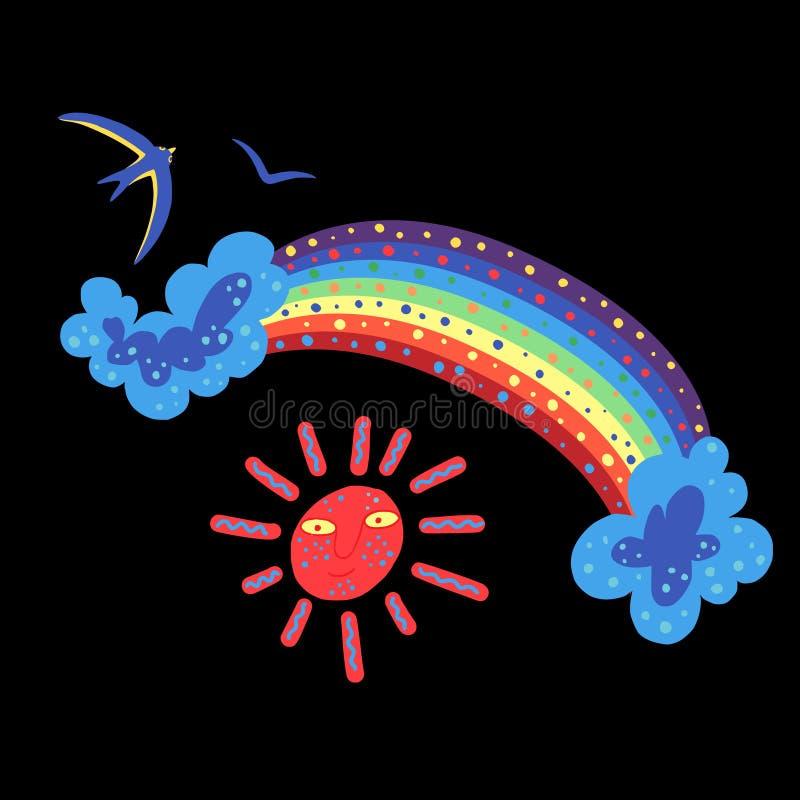 Sommarfärg doodle2 royaltyfri illustrationer