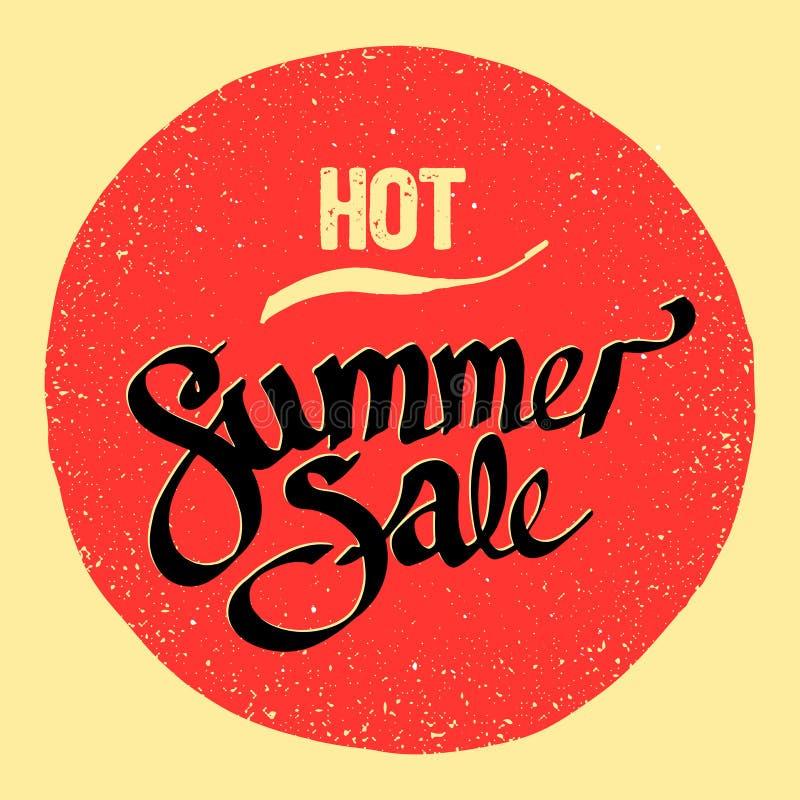 Sommarförsäljningstecken stock illustrationer