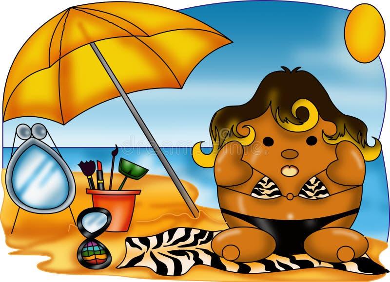 Sommarmode stock illustrationer
