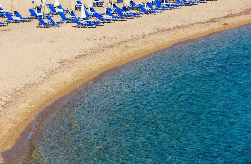 SommarmorgonPlatanitsi strand Grekland fotografering för bildbyråer