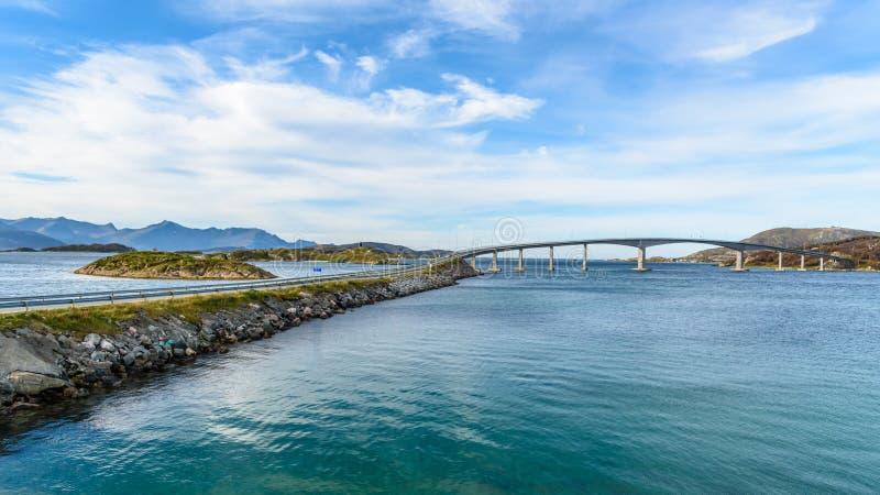 Sommaroy most, Tromso, Norwegia obrazy stock