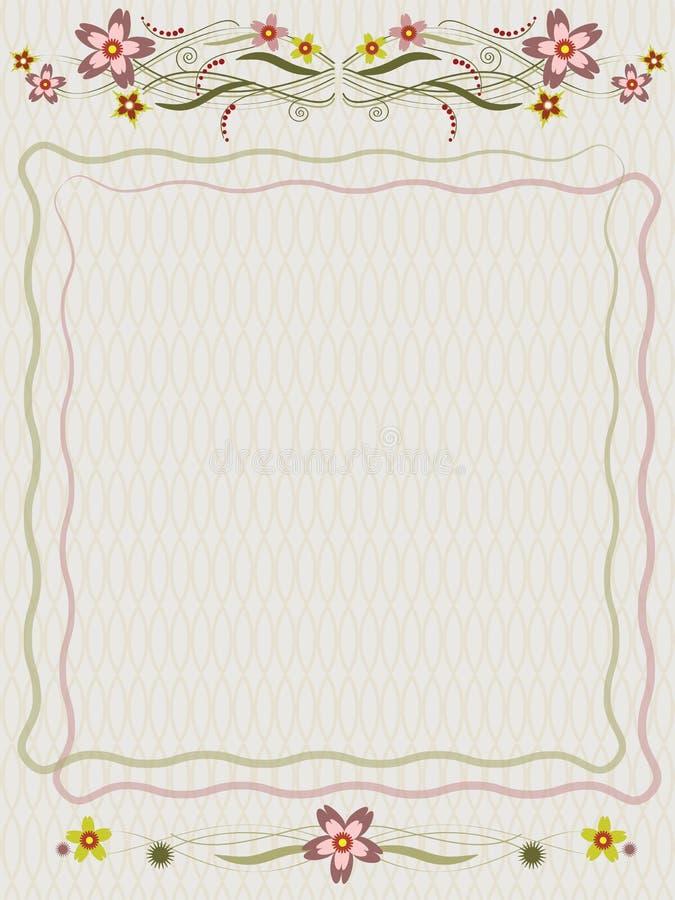 Sommarram royaltyfri illustrationer