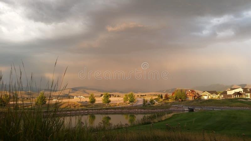 Sommarregn i Missoula arkivfoton