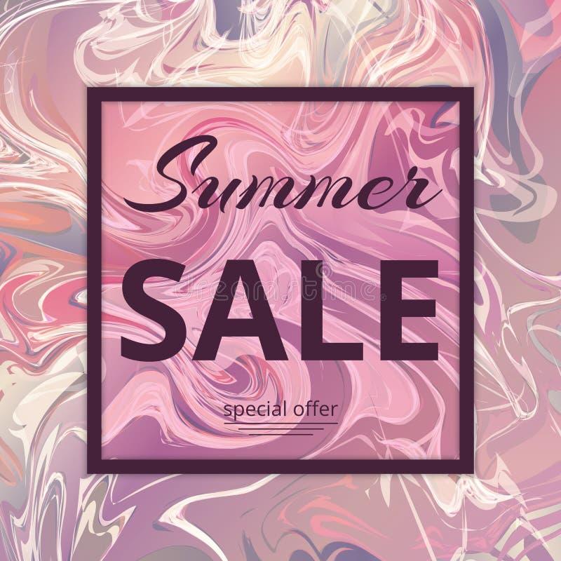 SommarSale modell stock illustrationer