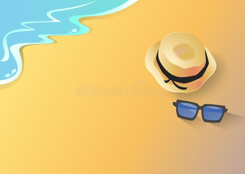 Sommarsemester på din ferie royaltyfri illustrationer