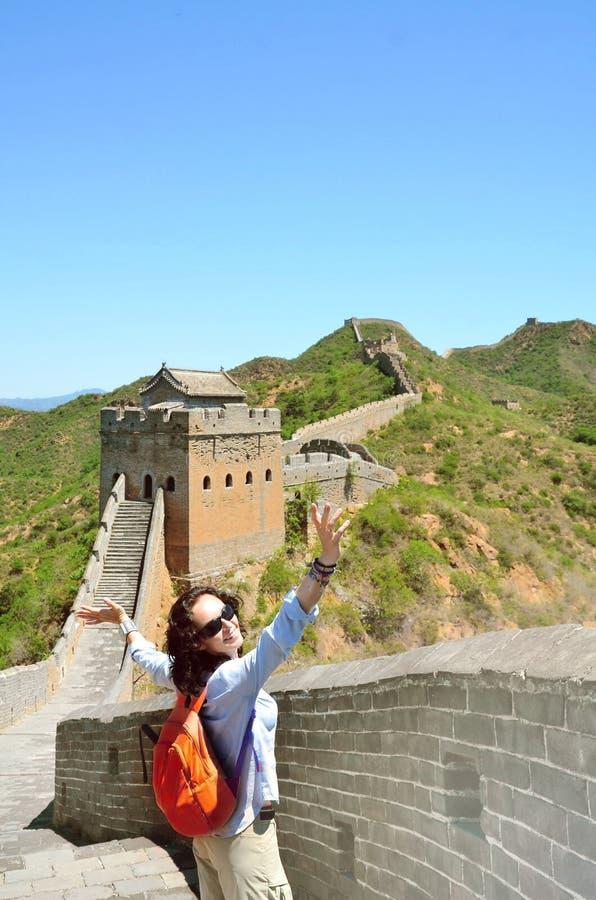 Sommarsikt p? den stora v?ggen Kina royaltyfria foton