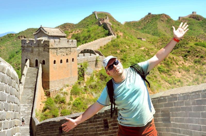 Sommarsikt p? den stora v?ggen Kina royaltyfria bilder