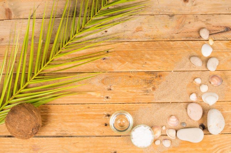 Sommarskönhetsmedelbakgrund arkivbild