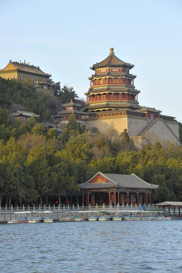 Sommarslott, Peking, Kina fotografering för bildbyråer