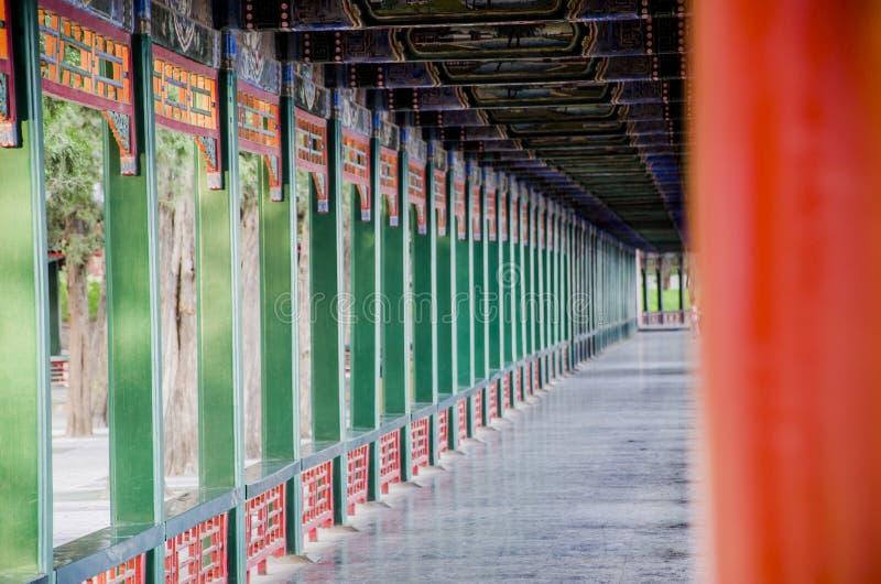 Sommarslotten, Beijing royaltyfri fotografi