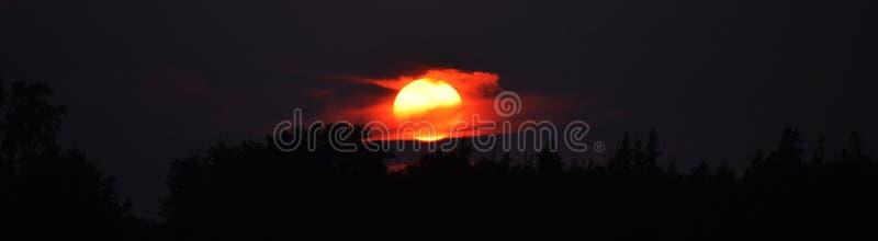 Sommarsolnedgång i Cherry Valley arkivbild