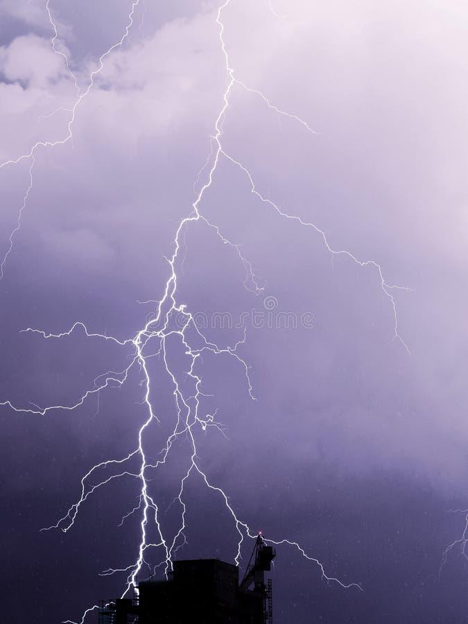 Sommarstorm arkivbild