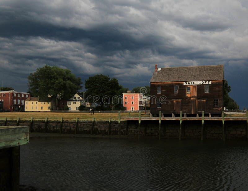 Sommarstorm som att närma sig i New England fotografering för bildbyråer
