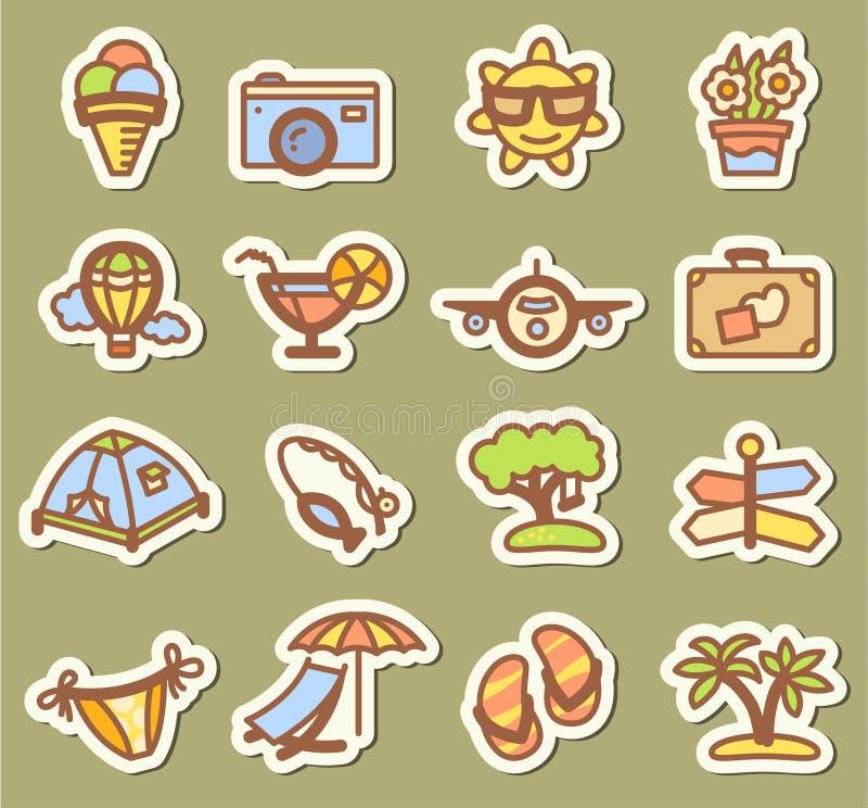 Sommarsymboler vektor illustrationer