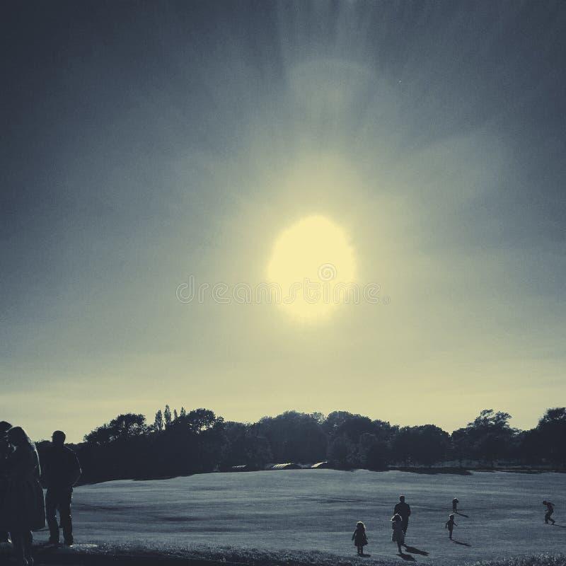 Sommartid i UK fotografering för bildbyråer