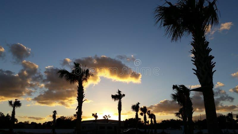 Sommartidsolnedgång fotografering för bildbyråer