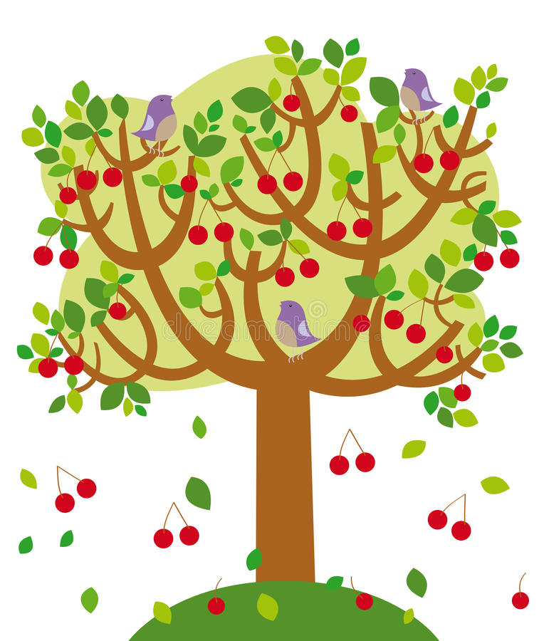 sommartree stock illustrationer