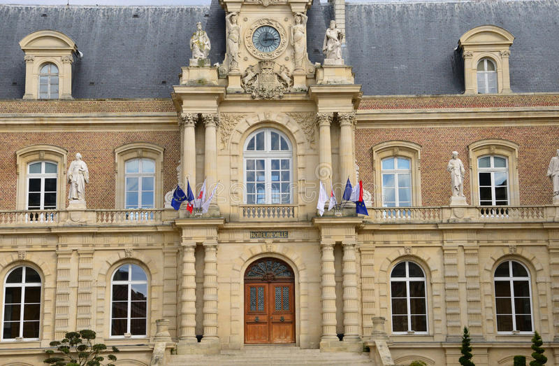 Somme, a cidade pitoresca de Amiens foto de stock