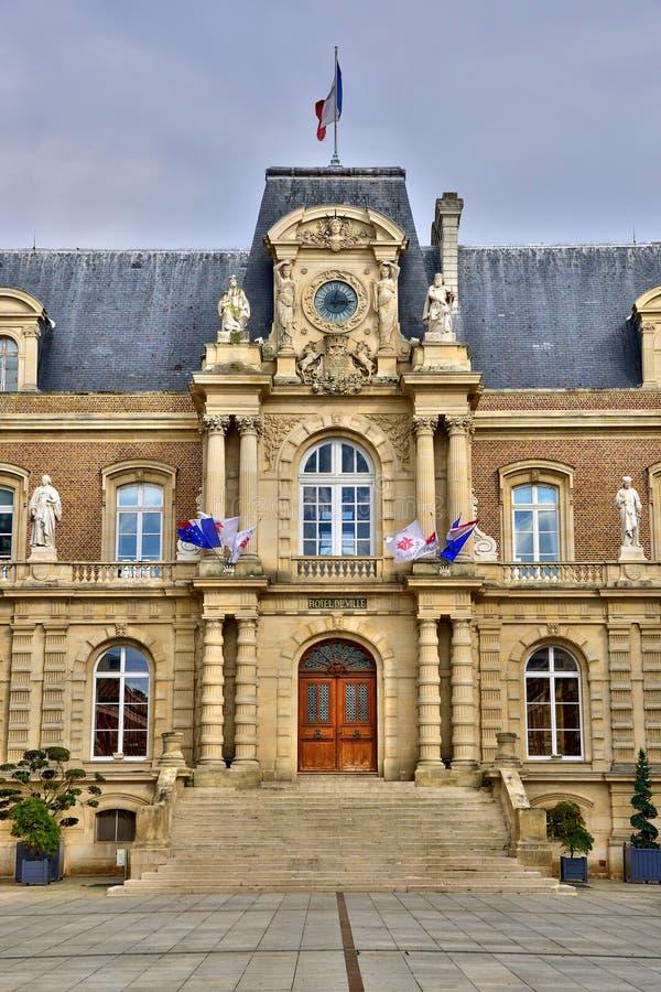 Somme, a cidade pitoresca de Amiens fotos de stock royalty free