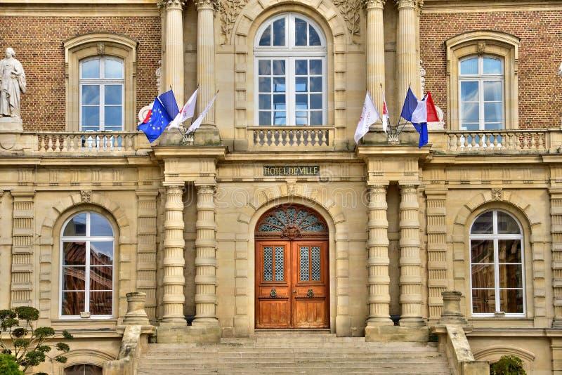 Somme den pittoreska staden av Amiens arkivfoton