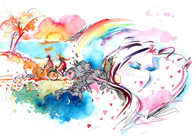sommeil illustration stock