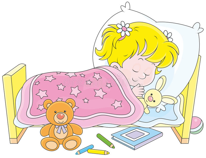 sommeil de fille illustration stock