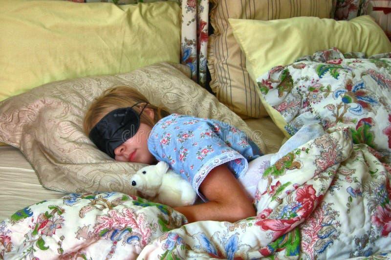 sommeil de fille photographie stock