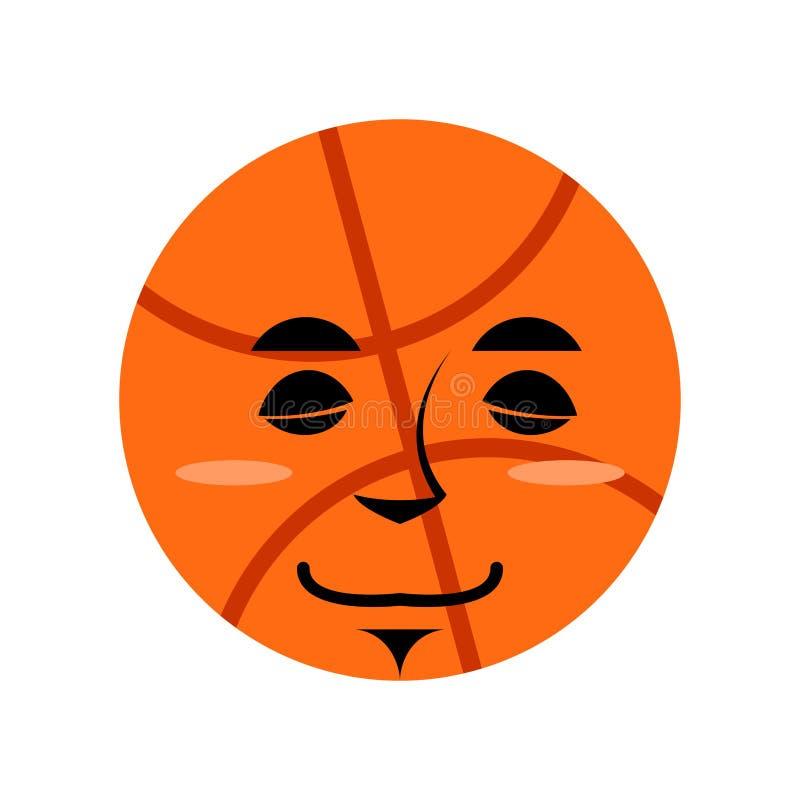 Sommeil Emoji de basket-ball Émotion de sommeil de boule d'isolement illustration de vecteur