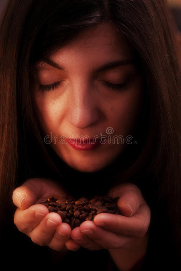 Sommelier del caffè fotografie stock libere da diritti