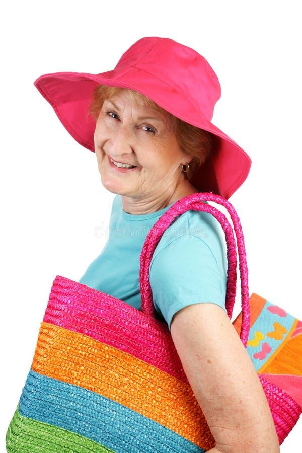 Sommer-Älterer - alles lächelt stockfotos