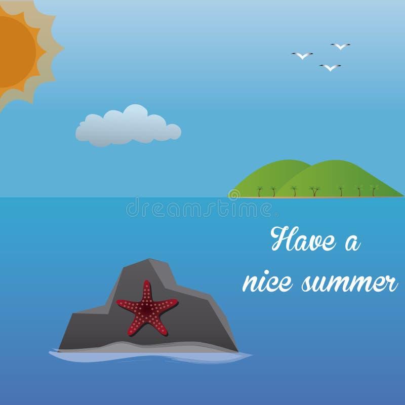 Sommer vektor abbildung
