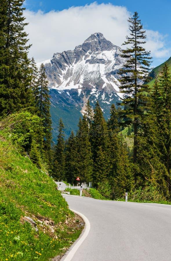 Sommer-Alpen zacken Straße lizenzfreies stockfoto