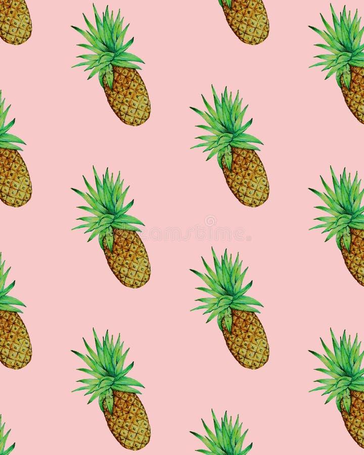 Sommer-Ananas-Illustrations-nahtloser Muster-Vektor Vektor Abbildung - Illustration Von Einfach ...