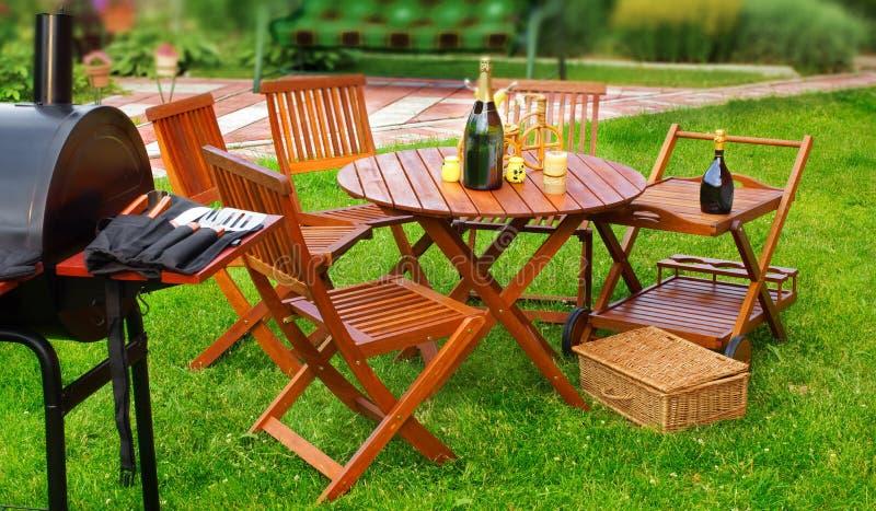 Sommer BBQ-Partei oder -picknick lizenzfreie stockfotos