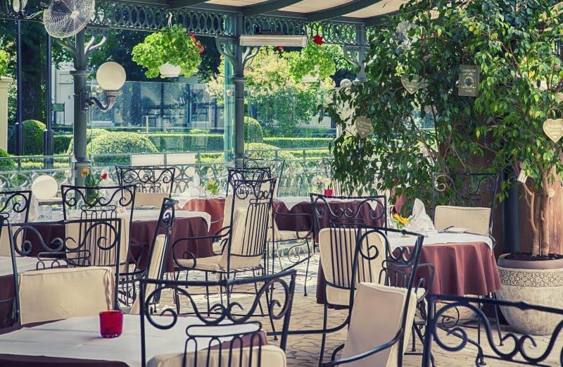 Sommer-Café stockbild