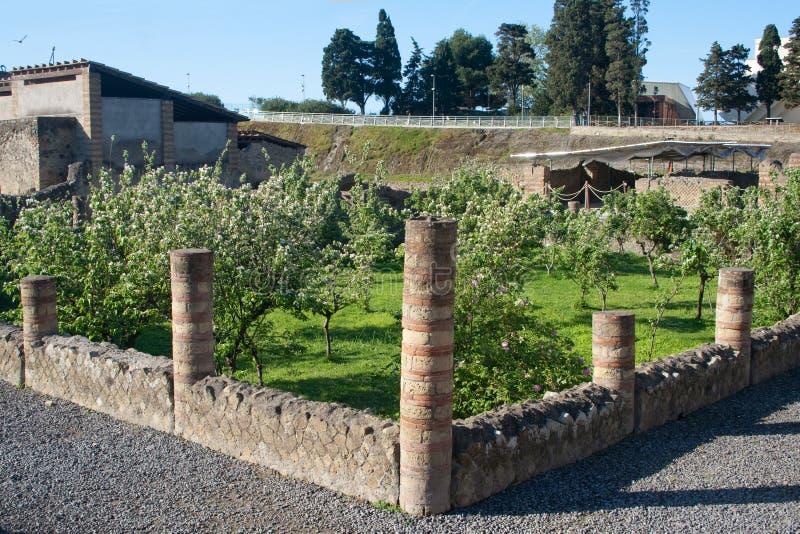Sommer in den Italien-Ercolano Ruinen stockfotos