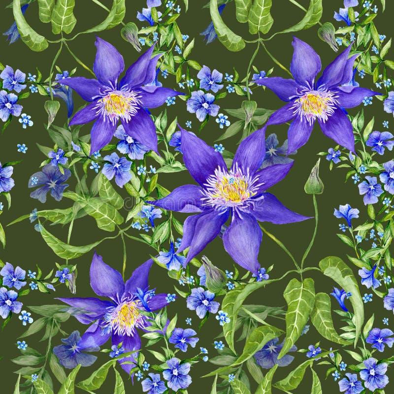 Sommer Forest Floral Texture lizenzfreie abbildung