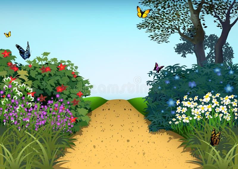 Sommer-Garten lizenzfreie abbildung