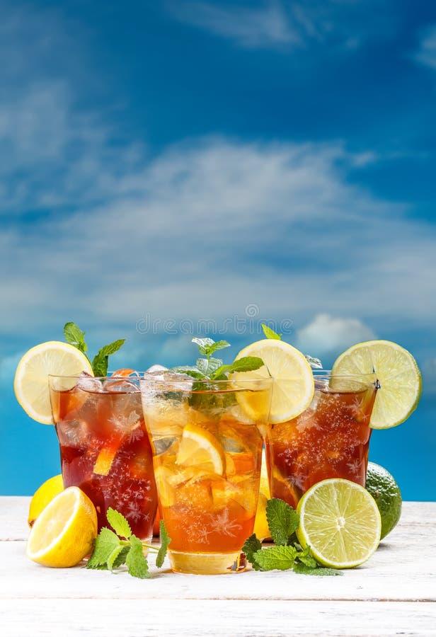 Sommer gefror Tee stockbild