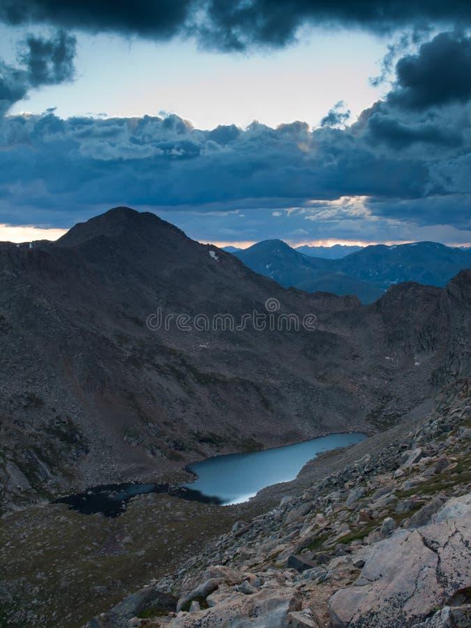 Sommer Höhe in den Rockies glättend stockfotografie