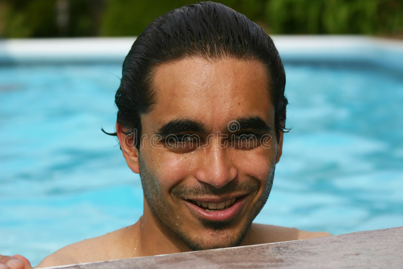 Sommer im Pool stockfoto