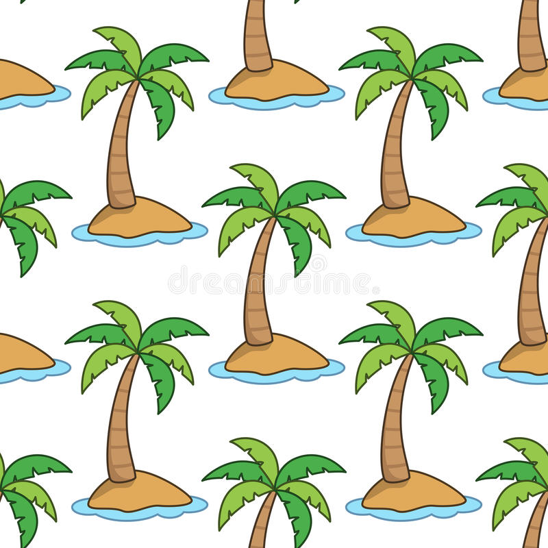Sommer-Insel-nahtloses Muster lizenzfreie abbildung